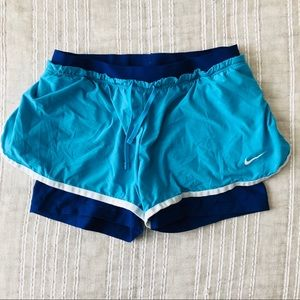 Nike•Blue Shorts With Liner